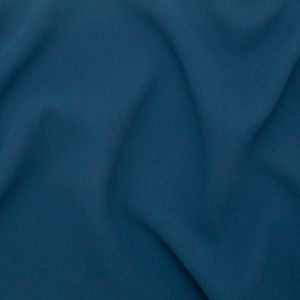Italian Real Teal Creped Polyester Double Cloth