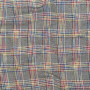 Italian White, Red, Yellow and Blue Blended Cotton Tweed