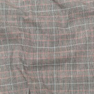 Mirador Gray and Port Royale Plaid Stretch Linen Woven