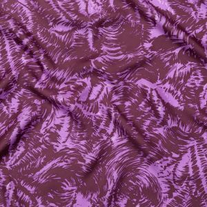 Milly Lilac and Brown Abstract Silk Twill