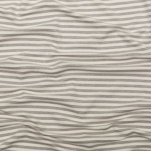 Off-White and Gray Striped Tactile Stretch Knit