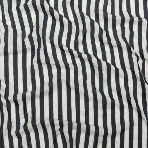 Phillip Lim Navy and White Awning Striped Silk and Cotton Woven