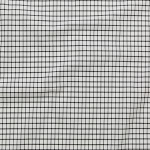 White and Black Checkered Heavy Stretch Cotton Woven