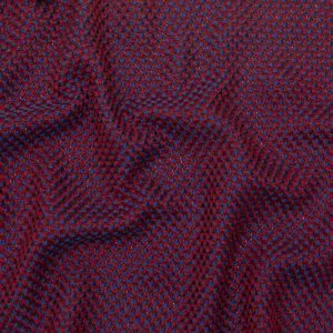 Royal Blue and Tango Red Checkered Tweed