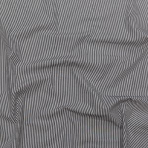 Black and White Pencil Striped Cotton Shirting