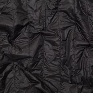 Black Rectangular Ribs Quilted Coating with Knit Backing