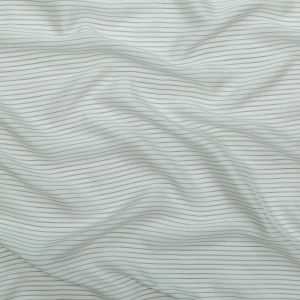 The Row White and Black Double Pinstriped Silk Lining
