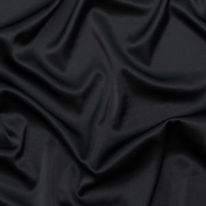 Phillip Lim Black Stretch Crepe Back Satin with White Fused Backing