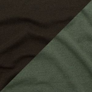 Italian Heathered Green Bay, Dried Herb and Wren Reversible Wool Double Knit