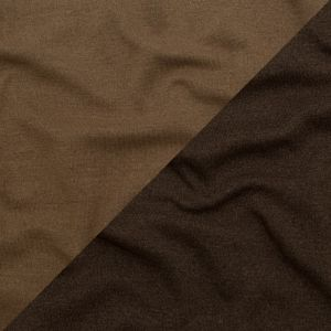 Italian Wren and Sepia Tint Reversible Wool Double Knit