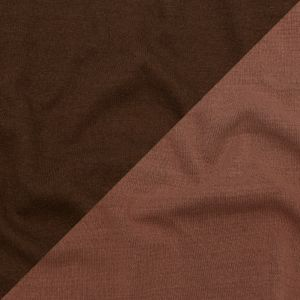 Italian Rose Dawn and Brown Reversible Wool Double Knit