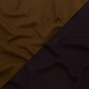 Italian Nightshade and Monk's Robe Reversible Wool Double Knit