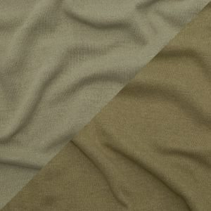 Italian Green Olive and Elm Green Reversible Wool Double Knit