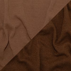 Italian Carob Brown and Tawny Brown Reversible Wool Double Knit