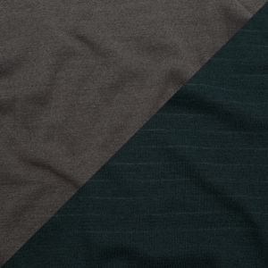 Italian Striped Green Gables and Excalibur Reversible Wool Double Knit
