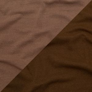 Italian Raw Umber and Toasted Coconut Reversible Wool Double Knit