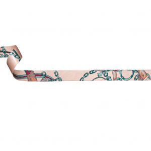 Italian Honey Peach and Arctic Purse Straps and Chains Satin Ribbon - 1