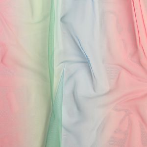 Sea Pink, Green and Angel Falls Ombre Shadow Tulle