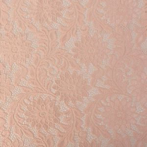 Peachy Keen Sunflower Re-Embroidered Stretch Lace