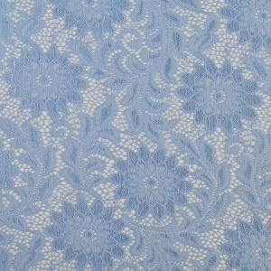 Placid Blue Sunflower Re-Embroidered Stretch Lace