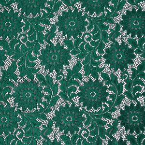 Emerald Sunflower Re-Embroidered Stretch Lace
