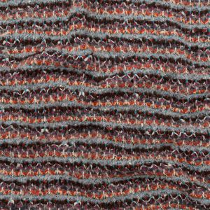 Rustic Orange, Chocolate Lab and Gray Striped Blended Wool Knit
