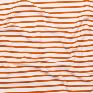 Puffin's Bill and White Striped Printed Double Knit