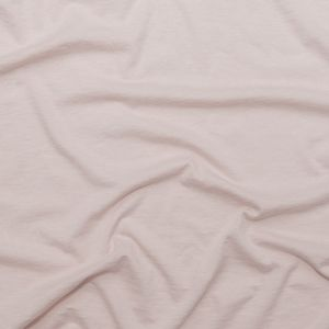 Peach Blush Cotton and Cashmere Blended Lightweight Jersey