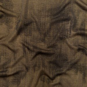 Raven and Tarmac Stretch Knit with a Metallic Glamour Gold Uneven Laminate