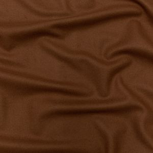 Amber Brown Felted Double-Sided Wool Coating