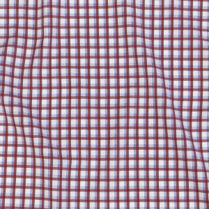 Premium Light Blue and Rococco Red Shadow Check and Chevron Cotton Dobby Shirting