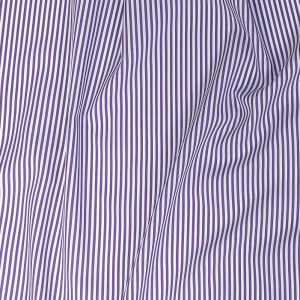Premium Regal Purple and White Candy Striped Dobby Cotton Shirting