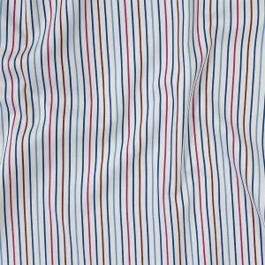 Premium Red, White and Blue Pencil Stripes Twill Cotton Shirting