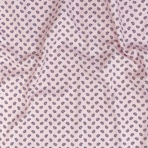 Premium Baby Pink, Blue and Red Paisley Printed Cotton Shirting