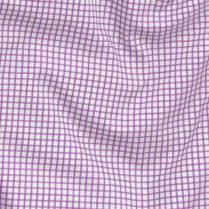 Premium Lilac and White Checkered Wrinkle Resistant Dobby Cotton Shirting