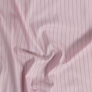 Premium Candy Pink Pinstripes and Herringbone Wrinkle Resistant Dobby Cotton Shirting