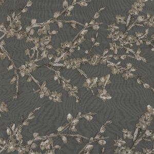 Angelino Mourning Dove and Olive Floral Embroidered Lace