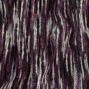 Elderberry and White Striated Novelty Chunky Knit