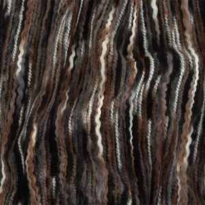 Rain Drum, Black and White Striated Novelty Chunky Knit