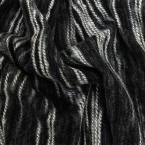 Steel and White Striated Novelty Chunky Knit
