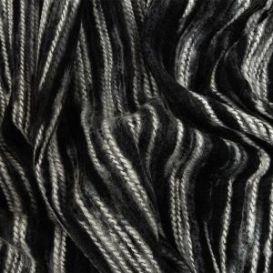 Black, Gray and White Striated Novelty Chunky Knit