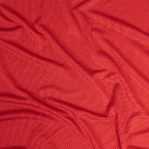 Red Coolmax Wicking Athletic Mesh