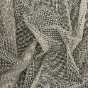 Starlet Luxury Gray and White Ombre Tulle with Metallic Platinum Glitter