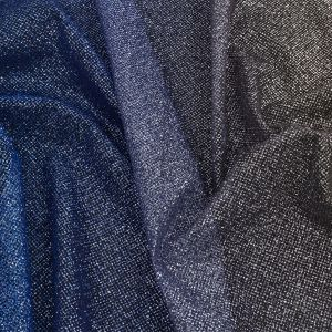 Starlet Luxury Royal Blue and Gold Ombre Tulle with Metallic Platinum Glitter