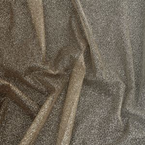 Starlet Luxury Light Copper and White Ombre Tulle with Metallic Platinum Glitter