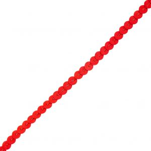 6mm Semi-Matte Candy Apple Red Sequins Trim