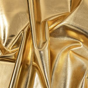 Curitiba Gold All-Over Foil Faux Leather Spandex