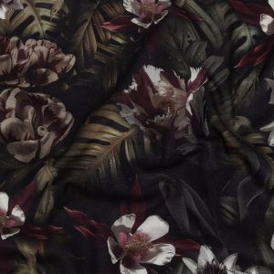 Toulouse Shadow Lilies Mercerized Organic Egyptian Cotton Voile
