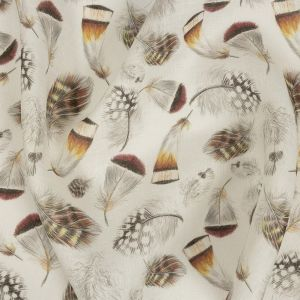 Floating Feathers Printed Linen Woven