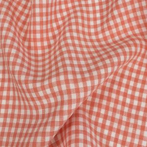 Torres Shell Pink and White Linen Gingham